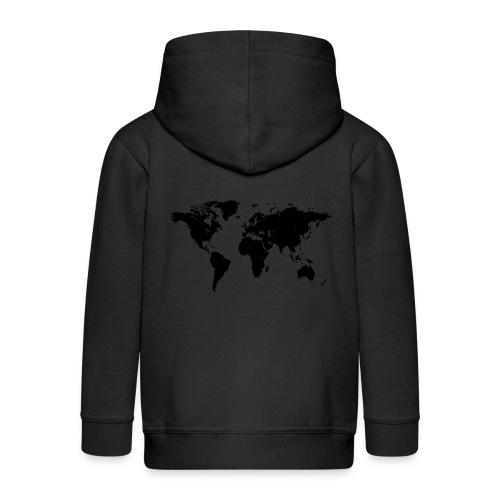 World Map - Kinder Premium Kapuzenjacke