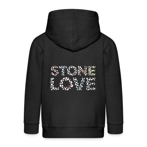 Stone Love Fontainebleau - Kinder Premium Kapuzenjacke