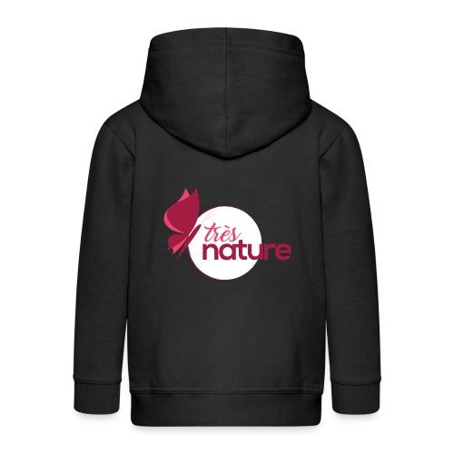 rond_rose_pap_sweet - Veste à capuche Premium Enfant