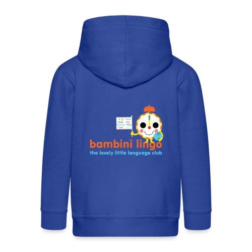 bambini lingo - the lovely little language club - Kids' Premium Zip Hoodie