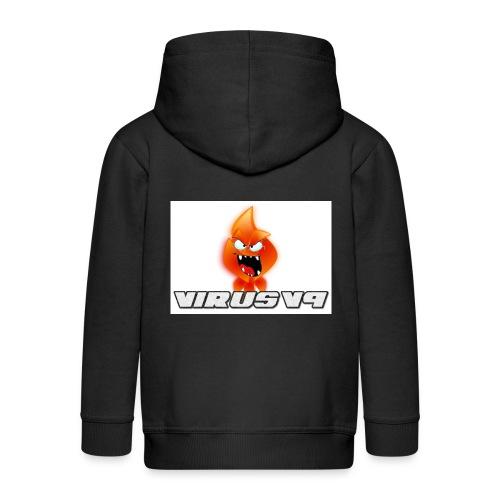 Virusv9 Weiss - Kinder Premium Kapuzenjacke