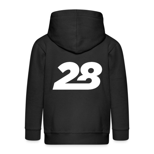 28 White - Kids' Premium Hooded Jacket