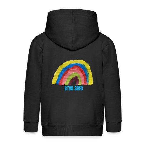 Stay Safe Rainbow Tshirt - Kids' Premium Hooded Jacket