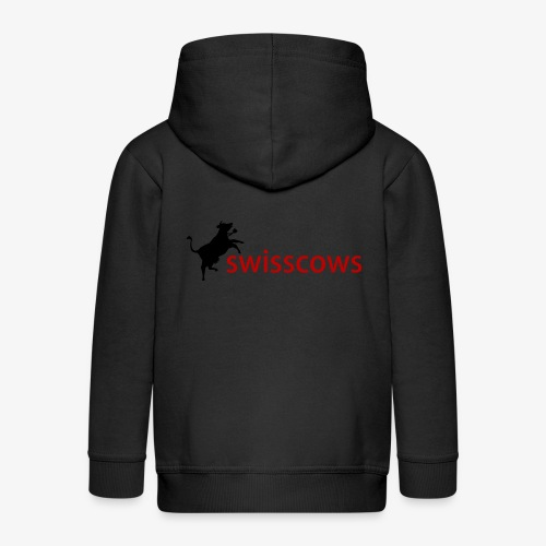Schwarz-Rot Hoodie - Kinder Premium Kapuzenjacke