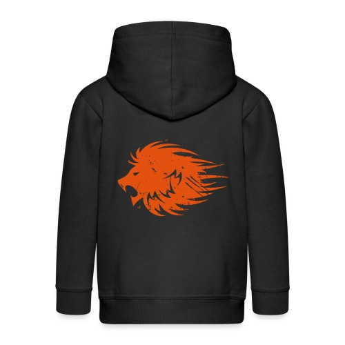 MWB Print Lion Orange - Kids' Premium Zip Hoodie