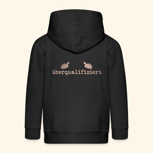 lustiges T-Shirt überqualifiziert - Kinder Premium Kapuzenjacke