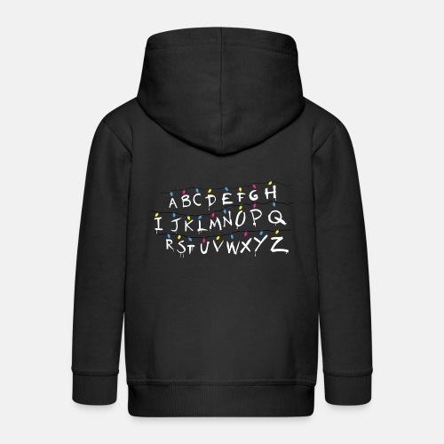 Stranger Things Alphabet - Kids' Premium Zip Hoodie