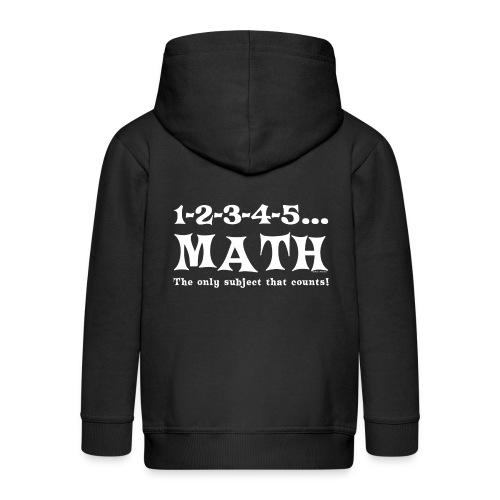 White Math Counts - Kids' Premium Zip Hoodie