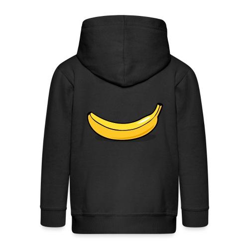 banaan smile - Kinderen Premium jas met capuchon