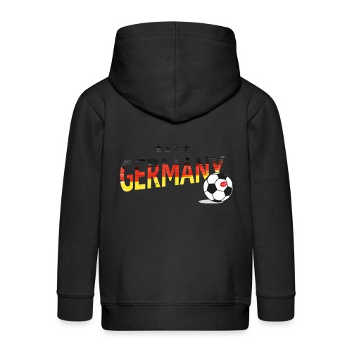 Fußball Weltmeister Fan Deutschland - Kinder Premium Kapuzenjacke