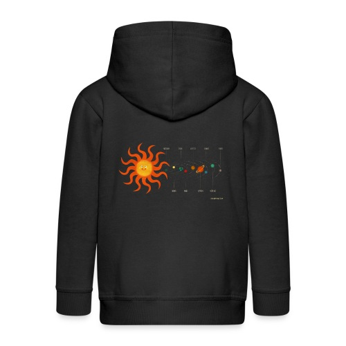 Solar System - Kids' Premium Zip Hoodie