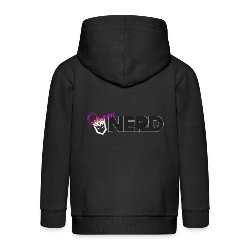 Queen-Nerd - Kids' Premium Zip Hoodie