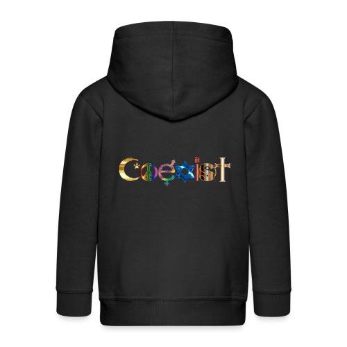Coexist - Kids' Premium Zip Hoodie