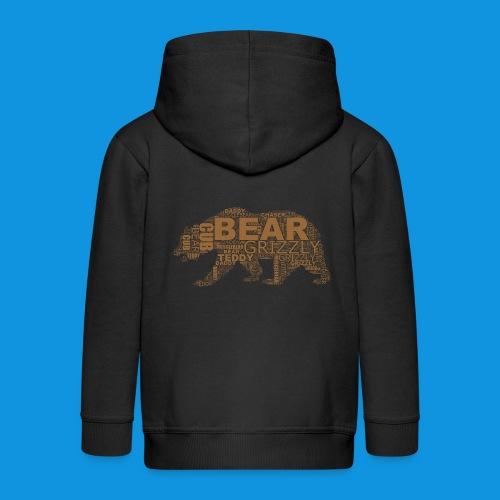 Bear Word Cloud - Kids' Premium Zip Hoodie