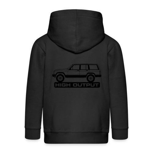 Jeep XJ High Output - Autonaut.com - Kids' Premium Zip Hoodie