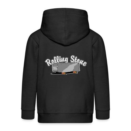 roll, stone, concrete, - Rozpinana bluza dziecięca z kapturem Premium