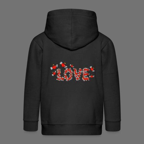 Fliegende Herzen LOVE - Kinder Premium Kapuzenjacke