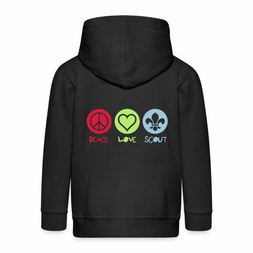 Peace Love Scout - Veste à capuche Premium Enfant