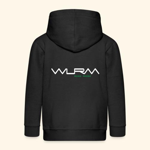 WLRM Schriftzug white png - Kinder Premium Kapuzenjacke