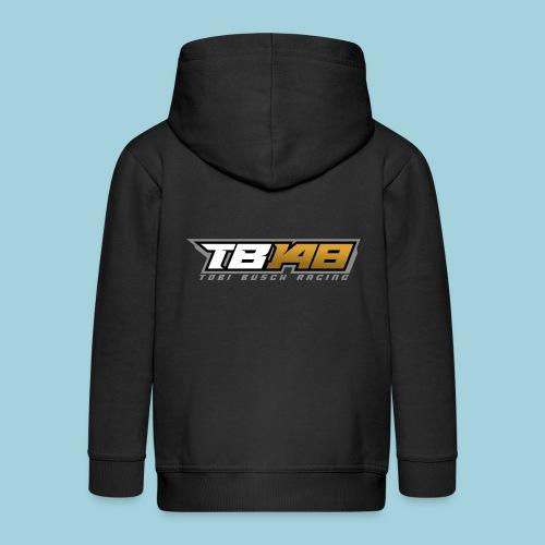 Tobi Logo Grau - Kinder Premium Kapuzenjacke