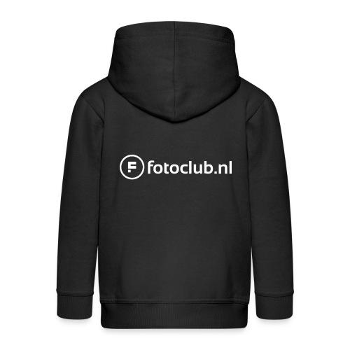 Logo Wit Fotoclublnl - Kinderen Premium jas met capuchon