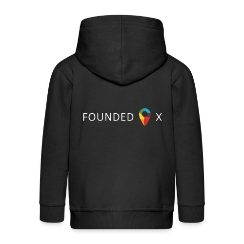 FoundedX logo white png - Kids' Premium Zip Hoodie
