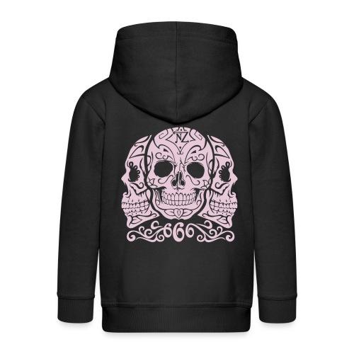 Skull Dia de los muertos - Veste à capuche Premium Enfant