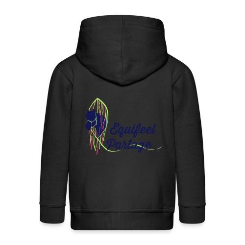 Logo marron - Tee-shirt V FEMME - Veste à capuche Premium Enfant