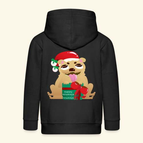 Pug-liday! - Kids' Premium Zip Hoodie