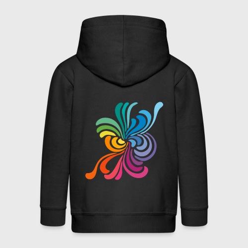 Fleurs multicolore - Veste à capuche Premium Enfant