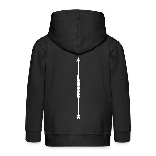 love Arrow white png - Kids' Premium Zip Hoodie