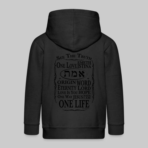 Truth - Wahrheit - Kids' Premium Zip Hoodie