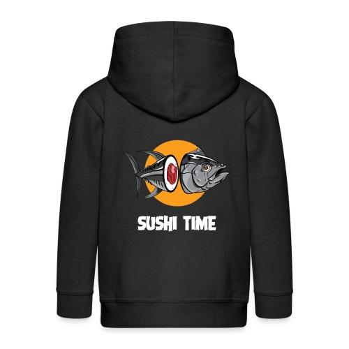 SUSHI TIME-tonno-b - Felpa con zip Premium per bambini