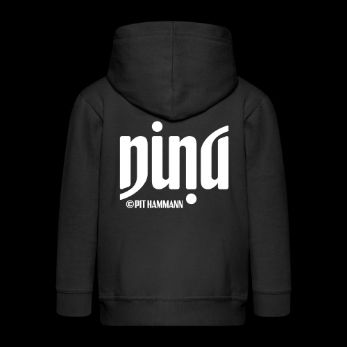 Ambigramm Nina 01 Pit Hammann - Kinder Premium Kapuzenjacke