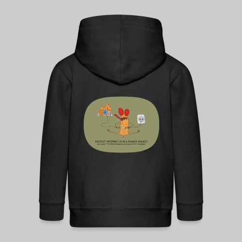 VJocys Internet - Kids' Premium Zip Hoodie