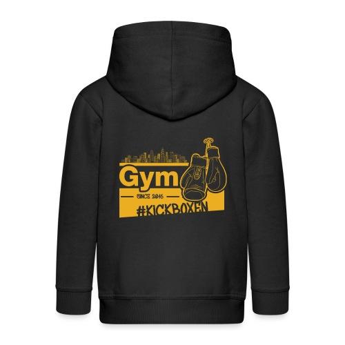 Gym Druckfarbe Orange - Kinder Premium Kapuzenjacke