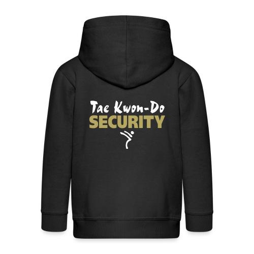 Taekwondo Security white & gold print - Kids' Premium Zip Hoodie