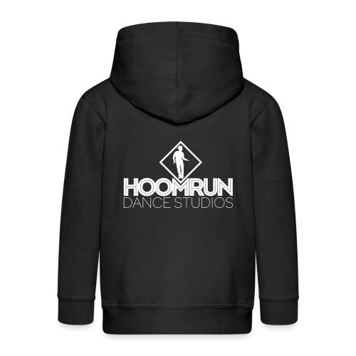 homerun logo rood - Kinderen Premium jas met capuchon