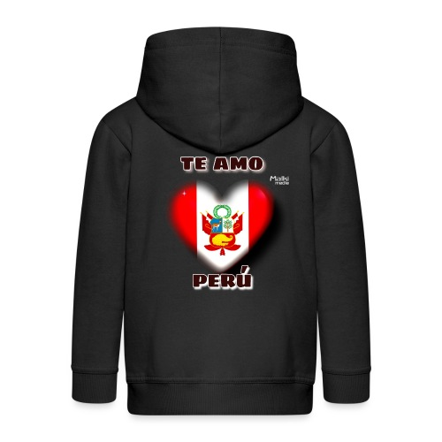 Te Amo Perú Corazón - Chaqueta con capucha premium niño