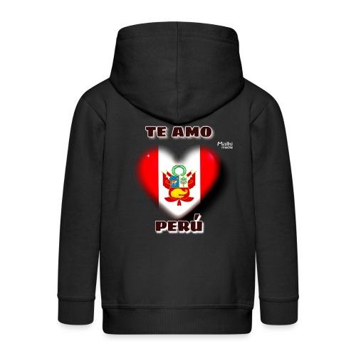 Te Amo Peru Corazon - Kinder Premium Kapuzenjacke