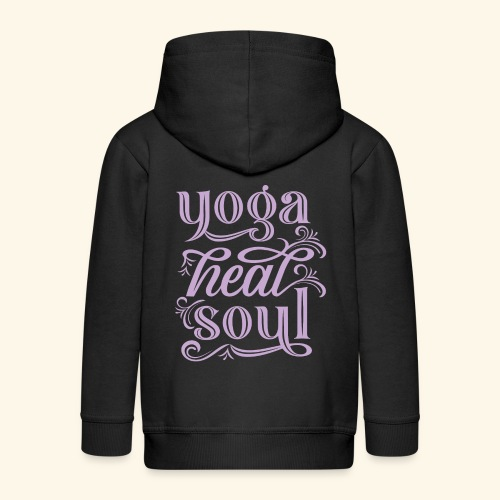 typographie en Anglais - Le Yoga Guérit l'Âme - Veste à capuche Premium Enfant
