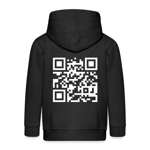 QR Barcode - met je eigen tekst - Kinderen Premium jas met capuchon
