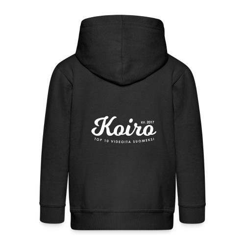 Koiro - Valkoinen Teksti - Lasten premium hupparitakki