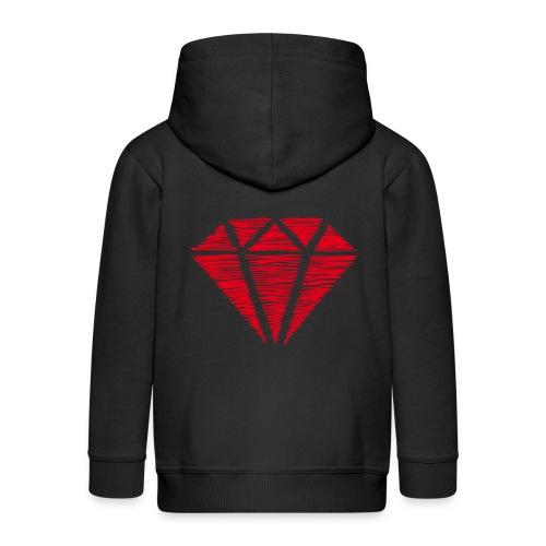 Diamante rojo - Chaqueta con capucha premium niño