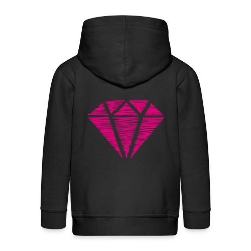 Diamante rosa - Chaqueta con capucha premium niño