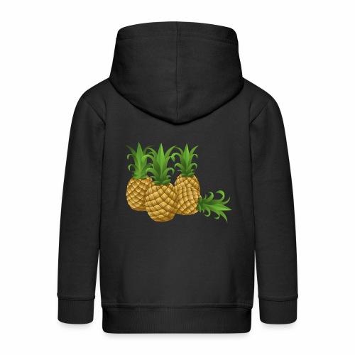 Ananas - Kinder Premium Kapuzenjacke