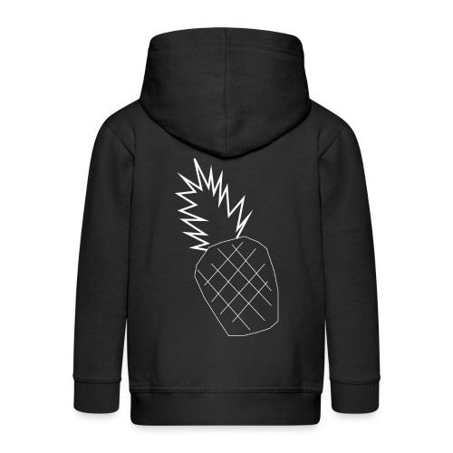pinapple png - Kids' Premium Zip Hoodie