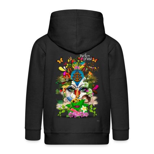 Parfum d'été by T-shirt chic et choc (tissu foncé) - Veste à capuche Premium Enfant