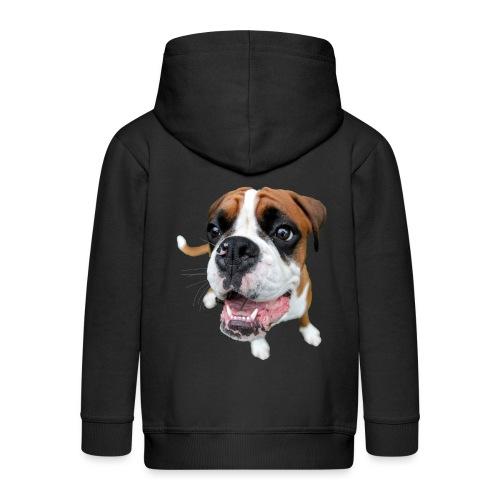 Boxer Rex dog - Kids' Premium Zip Hoodie