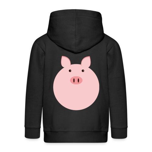 Schweinchen Fred - Kinder Premium Kapuzenjacke